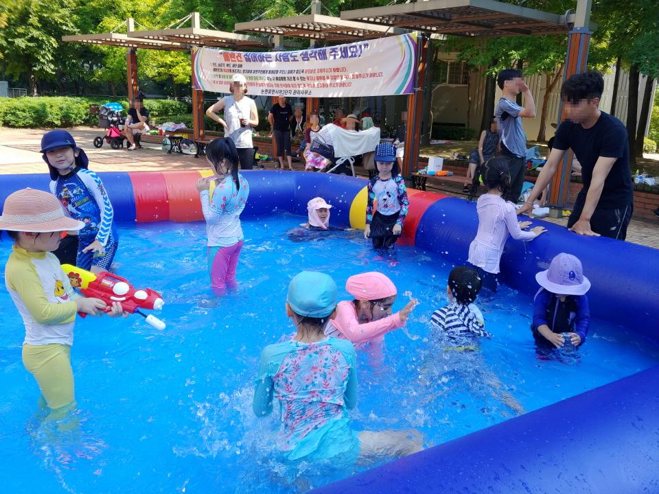 아이다움 하늘마을 3단지 물놀이 체험 자원봉사 (1)